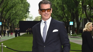 Pierce Brosnan is warming up his vocal cords ahead of Mamma Mia 2