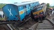 Two trains derailed in central India