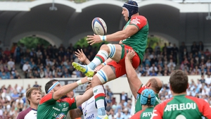 Mark Chisholm claims line-out ball for Bayonne