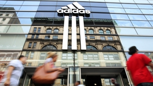 Germany's Adidas said it hopes to see off a challenge from Nike in Europe and return to growth in the region