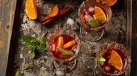 ClemenGold Sangria - A beautiful combination of sweet ClemenGolds with red wine and spices. Add slices of fresh ClemenGold with lots of ice and mint as the perfect, refreshing drink for a warm summer evening.