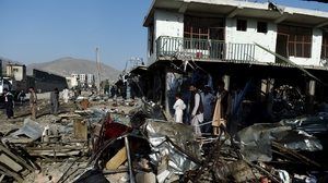 Attack comes just 24 hours after over 50 killed in series of bombings in the capital Kabul