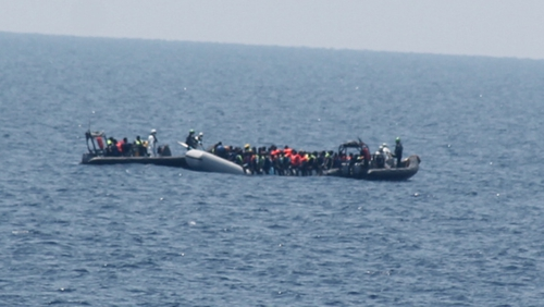 All of those rescued were given food, water and medical assistance
