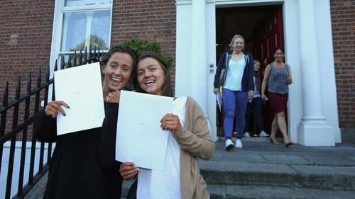 Katie McGuinness and Sian Walton collected their results from Loreto College