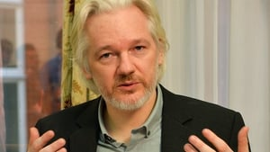 Julian Assange was speaking from the Ecuadorian embassy in London via social media