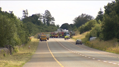 The N4 at Whitehillon the Dublin to Sligo road is expected to remain closed for the rest of the day