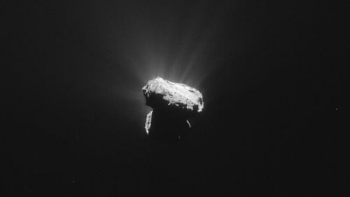 This image was taken by Rosetta one hour before Comet 67P reached the closest point to the Sun along its 6.5-year orbit (Pic: ESA)
