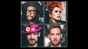 Boy George and Paloma Faith join returning coaches Will.i.am and Ricky Wilson for the fifth series Picture: BBC