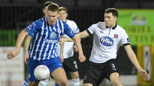 Morten Nielsen (left) in action for Sligo Rovers earlier this season