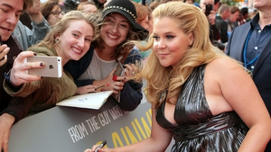 Amy Schumer at the Trainwreck red carpet in Dublin