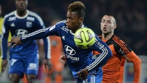 Clinton Njie in action for Lyon