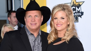 Garth Brooks and Trisha Yearwood pictured at the 50th Country Music Academy awards in April