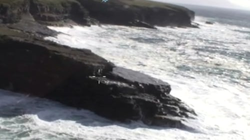 It is understood the man was fishing off rocks west of Ballyheigue in the Kerry Head area when he was swept into the water (pic: Coastguard)