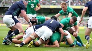 Chris Henry scores for Ireland