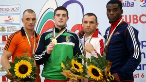 Joe Ward has now won three gold medal's at the Europeans - pictured here following his 2015 success