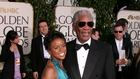 Morgan Freeman with E'Dena Hines at the Golden Globes in 2005