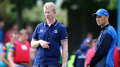 Leo Cullen (left) is the new Leinster boss, with Girvan Dempsey (right) working on a short-term contract as backs coach