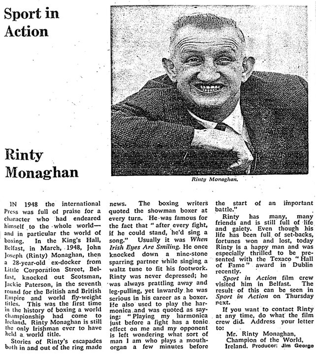 RTÉ Guide, 27 February, 1970, p.19