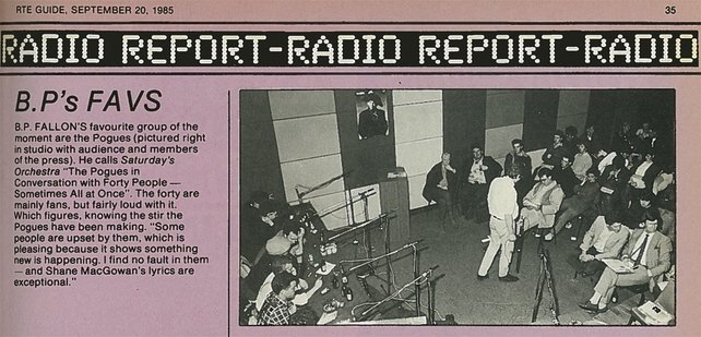 RTÉ Guide 20 September 1985, The Pogues