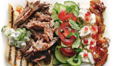 Middle Eastern Lamb with Feta Salad