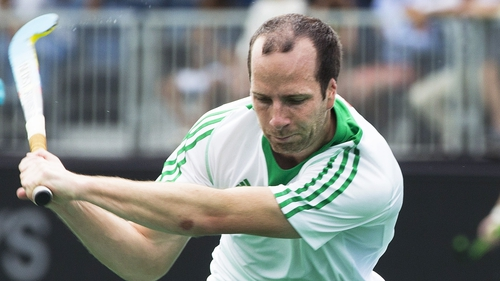 Peter Caruth was on the scoresheet again for Ireland.