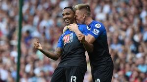 Callum Wilson celebrates scoring his second goal as Bournemouth defeated West Ham