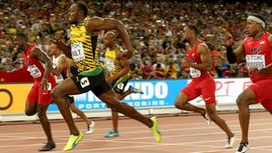 Usain Bolt ran a season-best time of 9.79 to edge Justin Gatlin in the 100m final