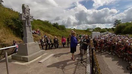 Frances Fitzgerald was giving the oration on the 93rd anniversary of the death of Michael Collins