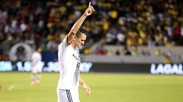Ireland captain Robbie Keane celebrates another great performance for LA Galaxy in MLS at the weekend.