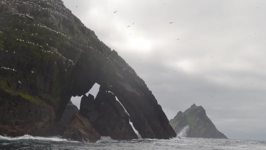 Mother Nature causing damage to Skellig Michael