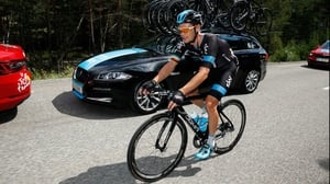 Nicolas Roche is now racing for Team Sky, the team that Wiggins was a member of when he won the Tour de France