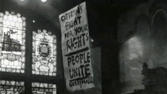 Protest at Guildhall Derry (1968)