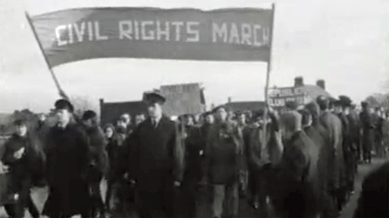 Civil Rights March Belfast to Derry, Toome : Day 2
