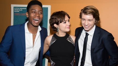 Me And Earl leading stars RJ Cyler, Olivia Cooke and Thomas Mann