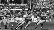 Action from the 1985 drawn All-Ireland semi-final between Dublin and Mayo
