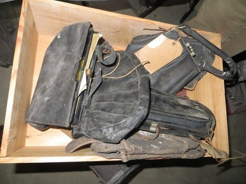 Some of the handbags found in the old penitentiary of St. Brendan's Hospital, Grangegorman.