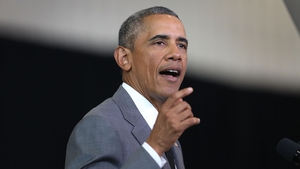 """President Barack Obama tells crowds New Orleans is """"moving forward"""" as he speaks at an event to mark 10 years since Hurricane Katrina"""