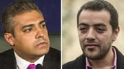 Mohamed Fahmy (L) and Baher Mohamed were both taken into custody