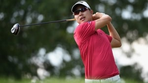 Sangmoon Bae holds a share of the lead at The Barclays