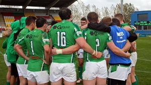 The Irish rugby league team walked off the pitch during their match with Serbia