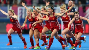 England erupt in celebration after their dramatic shootou victory