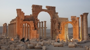 A file picture from 2010 shows a general view of the ancient city of Palmyra in central Syria