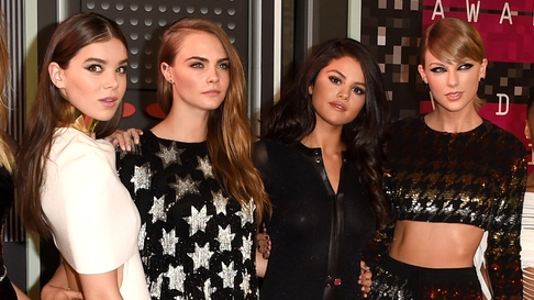 Hailee Steinfeld, Cara Delevingne, Selena Gomez and Taylor Swift