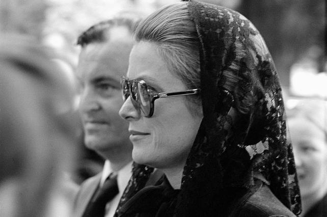 Princess Grace Attends Funeral of Éamon de Valera (1975)