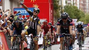 Kristian Sparagli outsprinted German John Degenkolb to claim his first professional victory