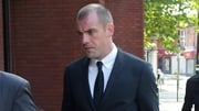 Darron Gibson arriving at Trafford Magistrates' Court