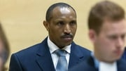 Bosco Ntaganda sits in the courtroom of the International Criminal Court in the Hague