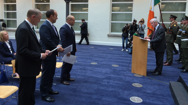 Schmidt, Strauss and Hodges become Irish citizens