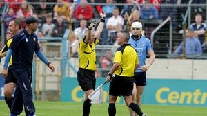 Liam Rushe sees red at Semple Stadium