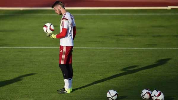 David De Gea training with Spain yesterday